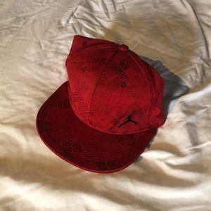 Boys adjustable Jordan baseball cap - red